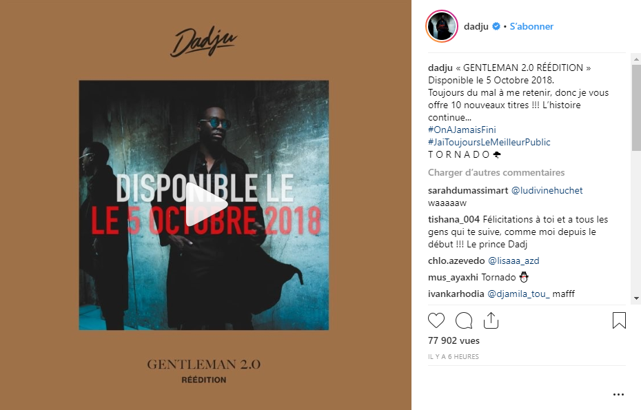 album dadju gentleman 2.0 reedition