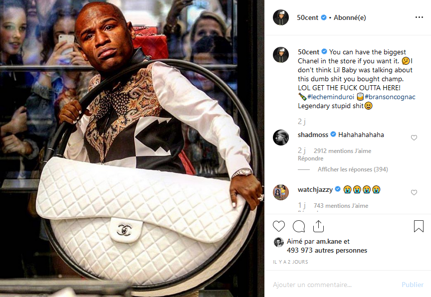 People: 50 Cent clashe Floyd Mayweather, la toile s'enflamme