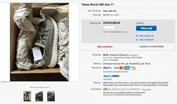 Adidas Yeezy Prix Ebay