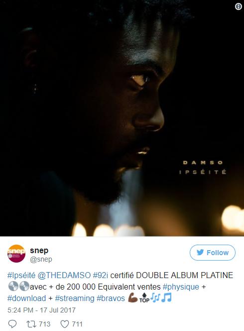 Exceptionnel Damso danse la macarena après son double disque de platine ! EK07