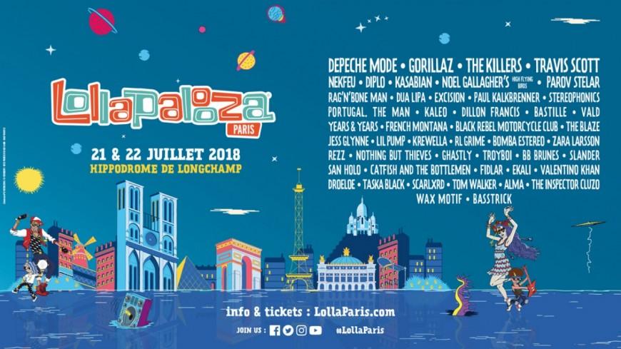 Chope tes places pour le festival Lollapalooza  !