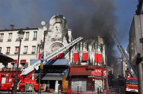 LElysée Montmartre lourdement endommagé par les flammes