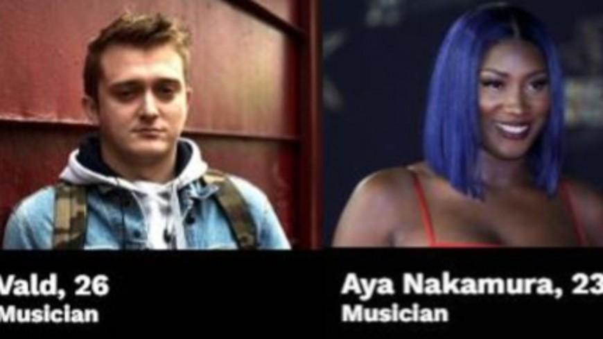 Vald et Aya Nakamura classés parmi les jeunes européens les plus influents !