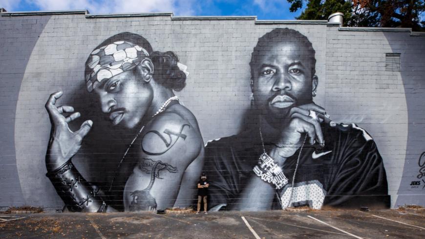 Une fresque gigantesque de Outkast à Atlanta !