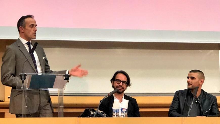 Sofiane a donné sa première conférence...à Sciences-Po !