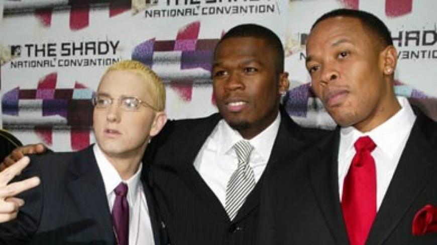 Eminem sur l'Empire State Building : avec 50 Cent et Dr. Dre