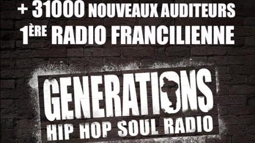 Generations, Radio Régionale la plus écoutée en Île-de-France !