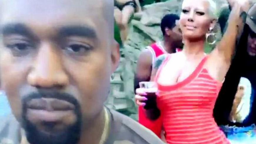 Kanye West évite Amber Rose à la Pool-Party de Drake !