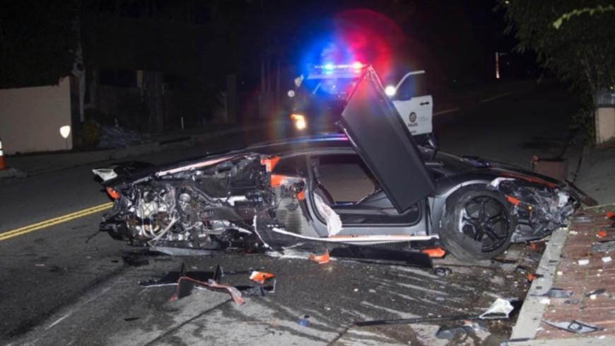 La Lamborghini de Chris Brown retrouvée détruite !