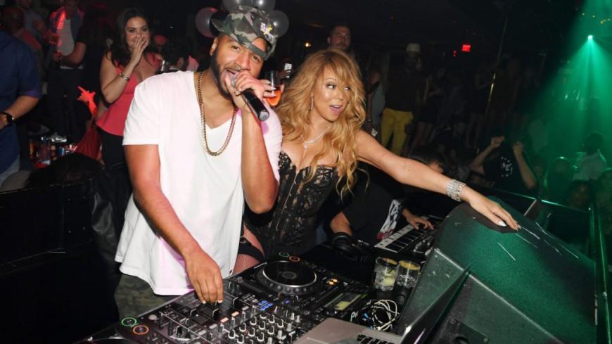Mariah Carey débarque en Boite en porte-jarretelles !