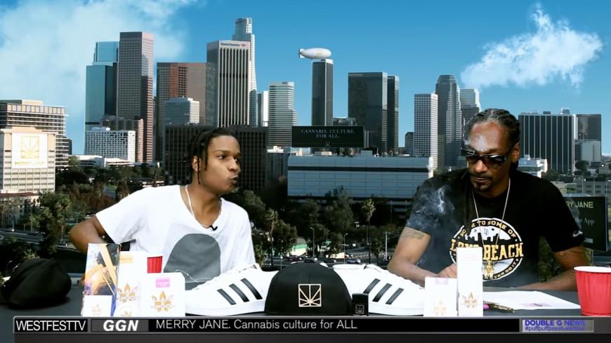 Snoop Dogg et ASAP Rocky défoncés à la weed
