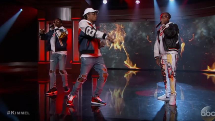 Migos met le feu sur le plateau de Jimmy Kimmel !