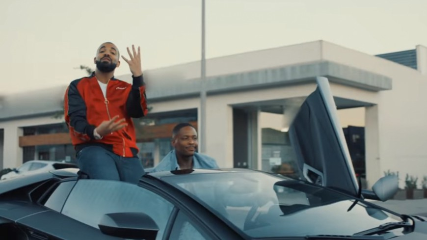 YG en Lambo avec Drake dans le clip de ''Why You Always Hatin?''