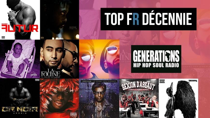 Le top rap français de la décennie par la rédaction de Generations !