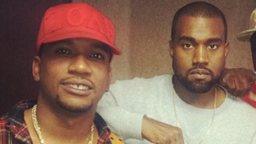 Kanye West pose sur un morceau de Cyhi The Prynce !