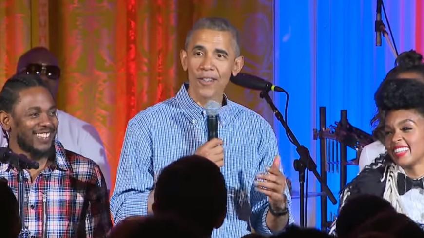 Kendrick Lamar & Janelle Monae chantent avec Barack Obama !