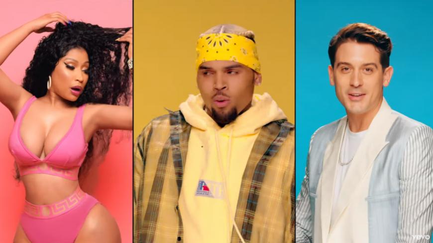 """Chris Brown, Nicki Minaj et G-Eazy s'ambiancent dans """"Wobble Up""""!"""